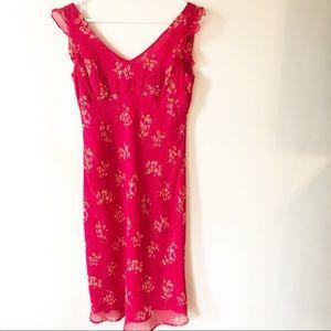 Ann Taylor Silk Pink Floral Sundress Size 6
